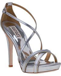 Badgley Mischka - Fierce Evening Sandal Silver Leather - Lyst
