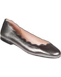 French Sole | Jigsaw Ballet Flat Pewter Leather | Lyst