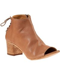 275 Central | Laced Back Bootie Cuoio Leather | Lyst