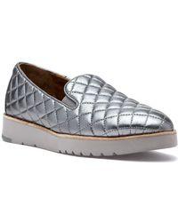 Johnston & Murphy - Portia Slip On Pewter Metallic Glove Leather - Lyst
