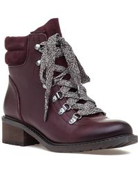 d2d95ee60 Jeffrey Campbell Clash Lug Sole Combat Boots Wine in Red - Lyst