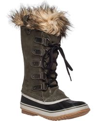 Sorel - Joan Of Arctic Suede And Rubber Boots - Lyst
