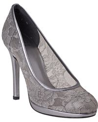 Stuart Weitzman - Lace Swoon Pewter - Lyst