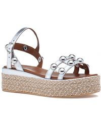 275 Central - 8914 Sandal Silver Leather - Lyst