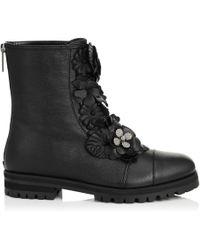 Jimmy Choo - Havana Flat Leather Boots - Lyst