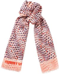 Jimmy Choo - Zelda Chilli Cashmere And Pashmina Blend Shawl - Lyst