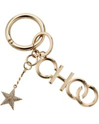 Jimmy Choo - Choo/kr Gold Metal And Crystal Star Keyring - Lyst