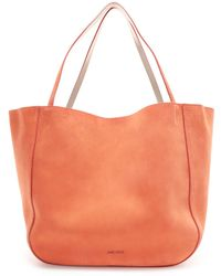 Jimmy Choo - Stevie Tote Reversible Chilli And Platinum Suede And Nappa Metallic Nappa Tote Bag - Lyst