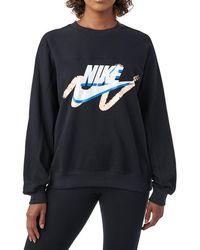 Nike - Archive Black Scribble Logo Sweatshirt - Lyst