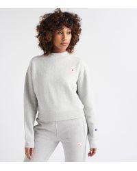 Champion - Reverse Weave Mock Neck Crop Top - Lyst