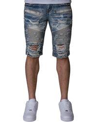 Heritage - Moto Denim Shorts - Lyst