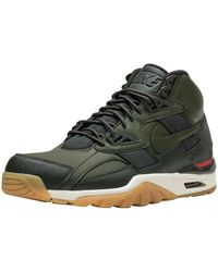 39aa270a7395 best nike air max 90 mid winter sneaker boots in green for men lyst ...