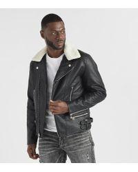 Reason - Sherling Moto Jacket - Lyst