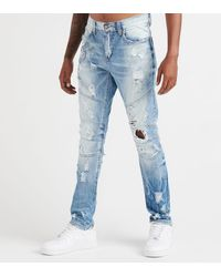 Heritage - 5 Pocket Bleached Denim Jean - Lyst