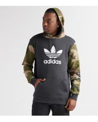 adidas - Camo Pullover Hoodie - Lyst