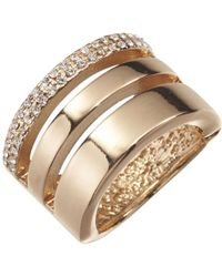 Joe Fresh - Gold Tone Stacked Ring - Lyst