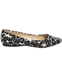 Joe Fresh - Leopard Print Pointy Flat - Lyst