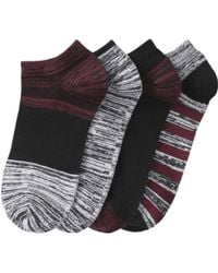 Joe Fresh - 4 Pack Low Cut Stripe Socks - Lyst