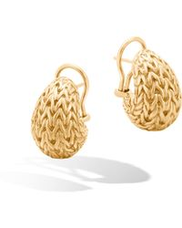 John Hardy - Classic Chain Graduated Buddha Belly Earrings - Lyst
