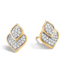 John Hardy - Naga Stud Earring With Diamonds - Lyst