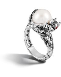 John Hardy - Naga Ring With Pearl And Black Sapphire - Lyst