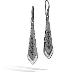 John Hardy - Modern Chain Drop Earring With Diamonds - Lyst