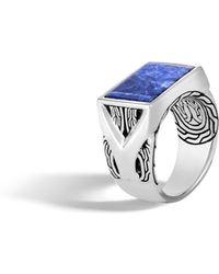 John Hardy - Asli Classic Chain Signet Ring With Sodalite - Lyst