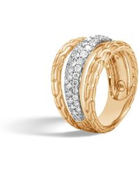 John Hardy - Classic Chain Ring With Diamonds - Lyst