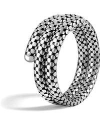 John Hardy - Classic Chain Silver Multiple Coil Bracelet - Lyst