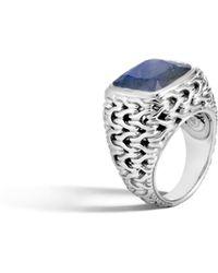 John Hardy - Magic Cut Ring In Silver With Labradorite - Lyst