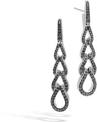 John Hardy - Drop Earring With Black Sapphire, Black Spinel - Lyst