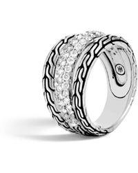John Hardy - Classic Chain Ring With Diamonds - Lyst