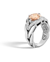 John Hardy - Magic Cut Ring With Champagne Topaz, Diamonds - Lyst