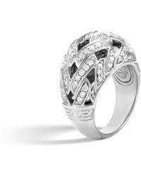 John Hardy - Classic Chain Dome Ring With Diamonds - Lyst