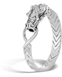 John Hardy - Naga Station Bracelet With Diamonds - Lyst