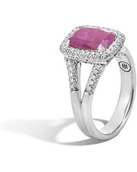 John Hardy - Magic Cut Ring With Indian Ruby And Diamonds - Lyst