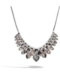 John Hardy - Naga Necklace With Grey Mother Of Pearl - Lyst