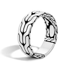 John Hardy - Sterling Silver Classic Chain Band Ring - Lyst