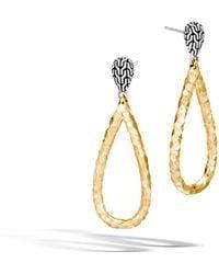 John Hardy - Classic Chain Hammered Drop Earrings - Lyst