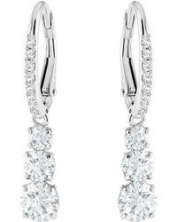 Swarovski - Attract Crystal Drop Hook Earrings - Lyst