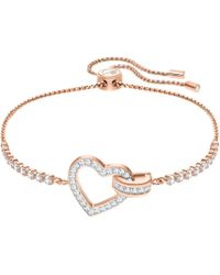 Swarovski - Lovely Crystal Heart Bracelet - Lyst