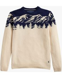 Joules - Christmas Mountains Jumper - Lyst
