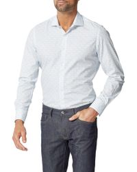 Simon Carter - Keys Print Slim Fit Shirt - Lyst