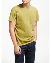 John Lewis - Overdyed Cotton Marl Pocket T-shirt - Lyst