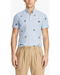 Ralph Lauren - Polo Short Sleeve Rugby Oxford Shirt - Lyst