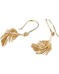 Alex Monroe - Little Feather Hook Drop Earrings - Lyst