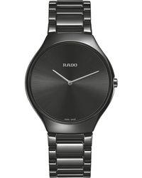 Rado - R27741182 Unisex True Thinline Ceramic Bracelet Strap Watch - Lyst