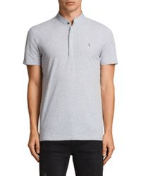 f9c56532 AllSaints Parlour Short Sleeve Polo Shirt in Black for Men - Lyst