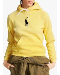 Ralph Lauren - Polo Logo Fleeceback Hoodie - Lyst