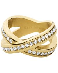 Dyrberg/Kern - Crystal X-design Ring - Lyst